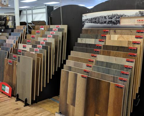 Hardwood Floor Displays at Mozak's