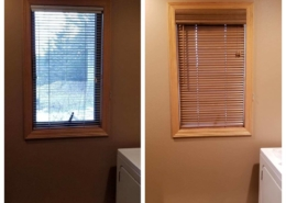 Replace Aluminum Blinds with Wood Blinds