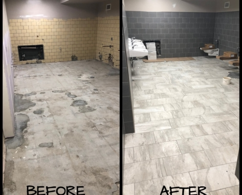 Before & After of Yankton Middle School Work