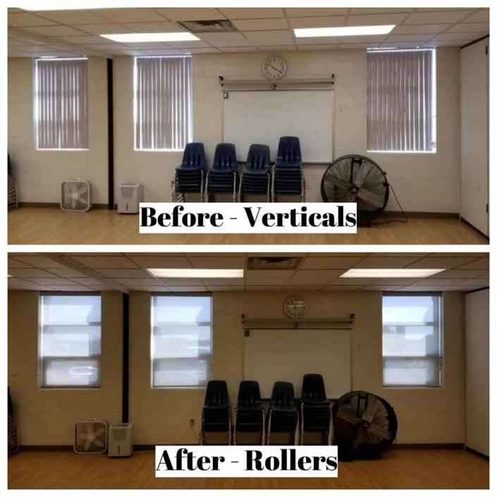 Before & After of New Roller Shades