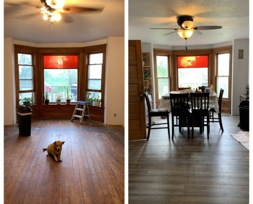 Before & After Dining Room Flooring