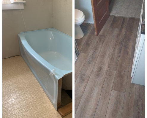 Bathroom Flooring Before & After