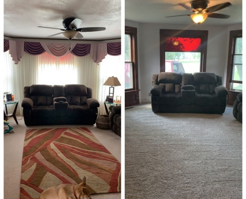 Before & After Living Area