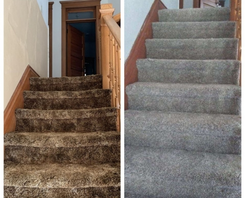 Before & After Carpet Stairs
